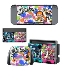 Game Splatoon 2 Decal Vinyl Skin Protector Sticker for Nintendo Switch NS Console + Controller + Stand Holder Protective Film аксессуар для игровой приставки nintendo switch контроллер splatoon 2