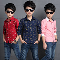 2016 new spring autumn Girls Kids Boys Casual lapel long-sleeved shirt comfortable cute baby Clothes Children Clothing
