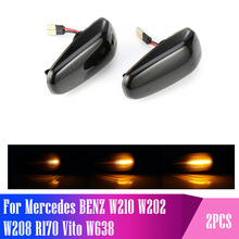 2 pieces Led Dynamic Side Marker Turn Signal Light Sequential Blinker Light For Mercedes BENZ W210 W202 W208 R170 Vito W638