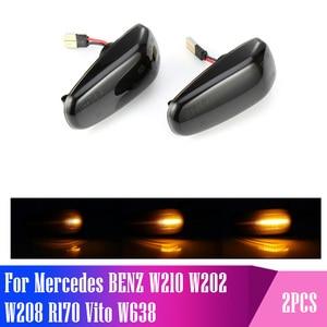 Image 1 - Luces Led dinámicas para señal de giro, luces intermitentes secuenciales para Mercedes BENZ W210 W202 W208 R170 Vito W638, 2 unidades