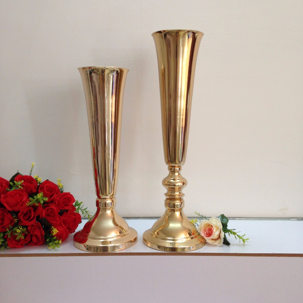 50cm 19 7 Quot Wedding Road Lead Flower Shelf Gold Table