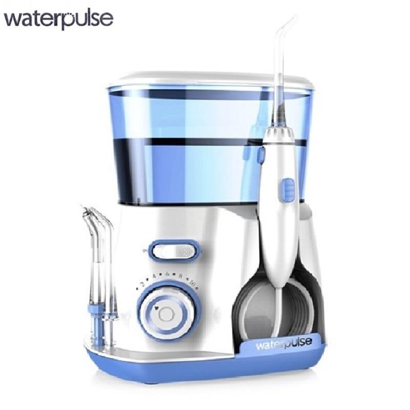 Dental Water Flosser Jet - Oral Irrigator with 5 Tip & 800ml Water Reservoir Dental Hygiene for Braces and Teeth Whitening 3 in 1 teeth whitening led dental tool kit oral hygiene care mirror
