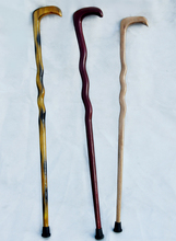 The whole wood natural wood color serpentine staff in the elderly wholesale alpenstock cane cane gifts