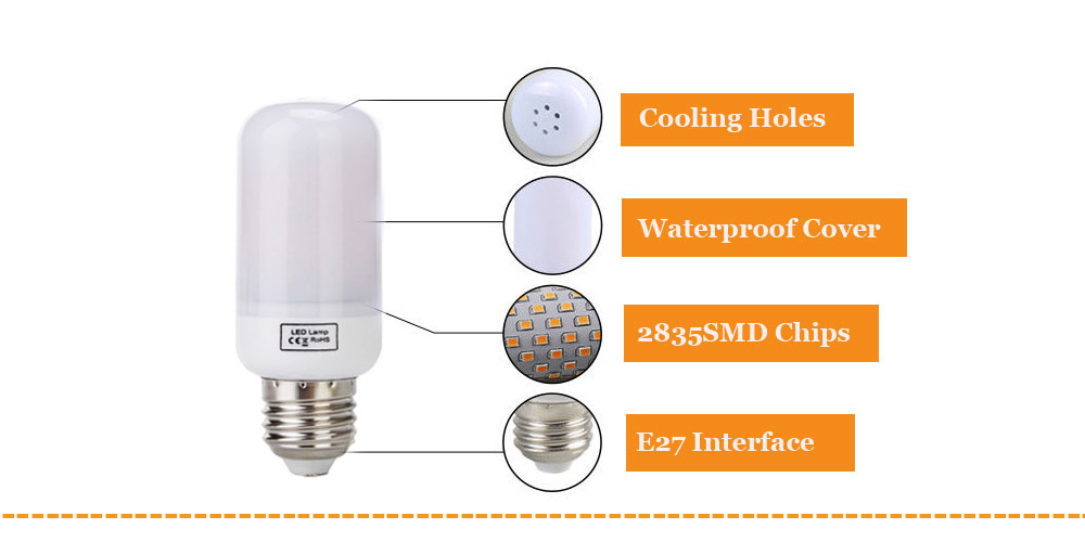 Dbao RP0369 LED Flame Lights Bulbs  -us (16)