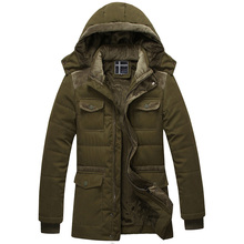 Thick Winter Cotton Padded Jacket Mens Fashion Zipper Casual Patchwork Hoodies Warm Outwear Coat Fitness Jaqueta