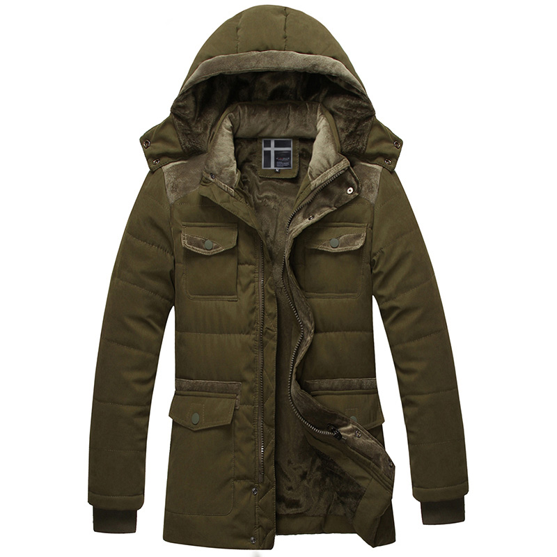 Thick Winter Cotton Padded Jacket font b Mens b font Fashion Zipper Casual Patchwork font b