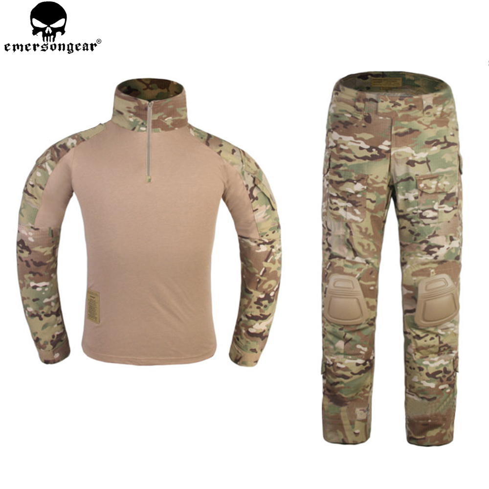 Emerson G3 Style Combat Suit for Woman Hunting Clothes Multicam Camouflage Emersongear Tactical Pants Combat Uniform EM6966