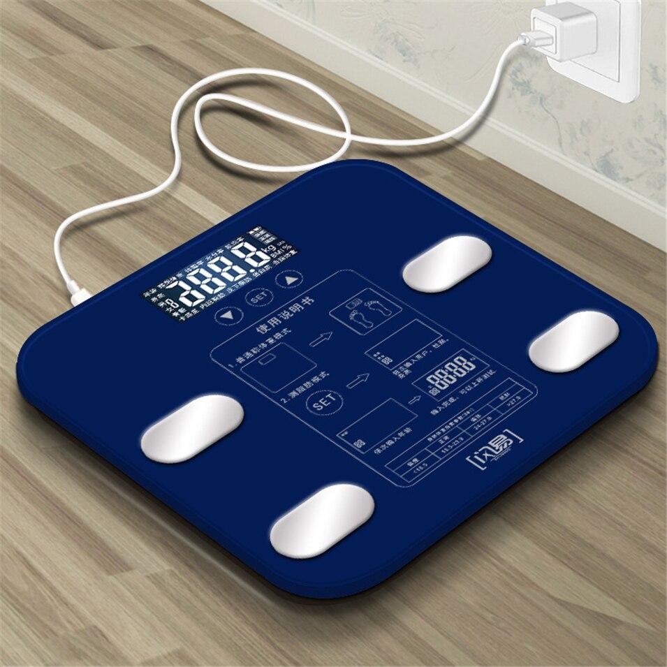 Ванная комната тела Вес весы Стекло смарт-бытовые электронные цифровые пол Вес баланс ожирения ЖК-дисплей Дисплей PK xiaomi