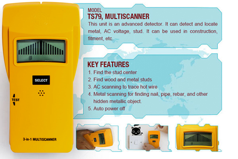 3 Multiscanner חיישן מתכתי 2