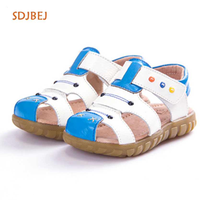 New Brand Toddler Boys Sandals Orthopedic Sport Pu Leather Baby Boys Sandals Shoes Jongens Sandalen Summer Kids Shoes