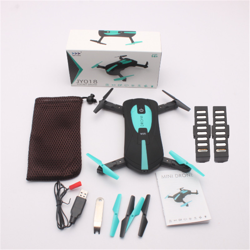 JY018 RC Drone Wifi FPV Mini Drone with 30W Wifi Camera Altitude Hold Selfie Quadcopter Folding RC Helicopter Remote Control Toy