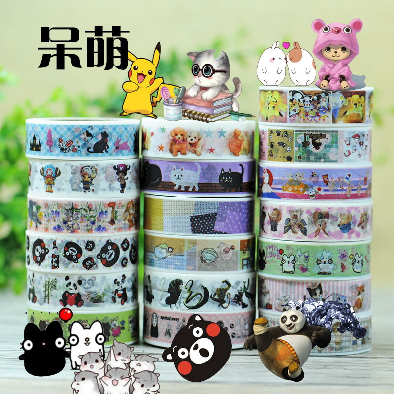 Miyazaki Shun Fairy Tales Washi Tape set Japanese Cartoon Characters Deco Tape Scrapbooking Planner Stickers Masking Tape 19pc tales