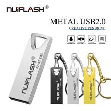 HOT Nuiflash usb2.0 64gb Usb flash drive waterproof storage devices 16gb 8gb 4gb pendrive 128gb 32gb u disk with gift key ring