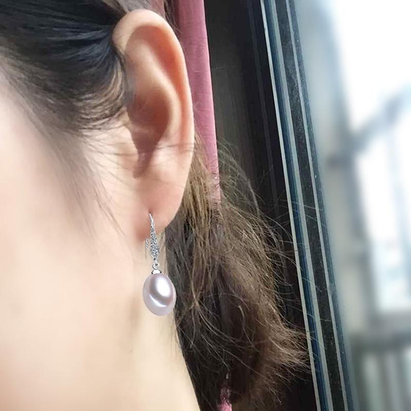 YIKALAISI 925 sterling silver Natural Freshwater Pearl Drop Earrings - Märkessmycken - Foto 6