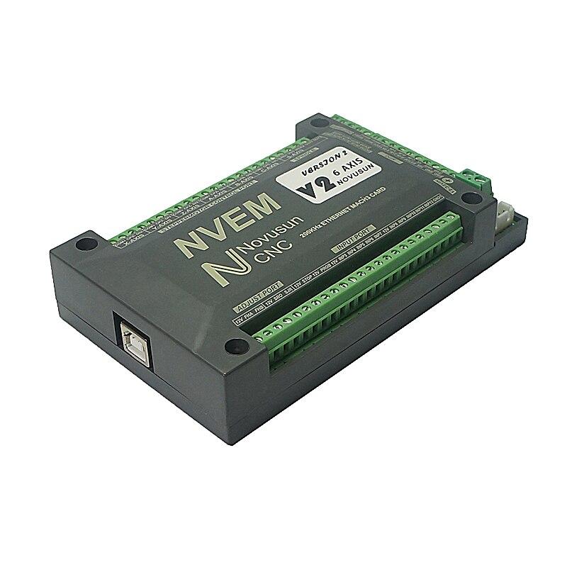 Nvum 6 eixos mach3 cartão de controle usb 200 khz roteador cnc