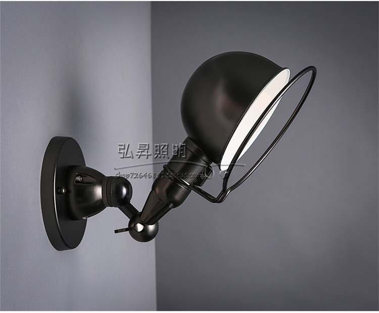 цена loft vintage wrought iron corridor for creative retro industrial Adjustable wall lamp