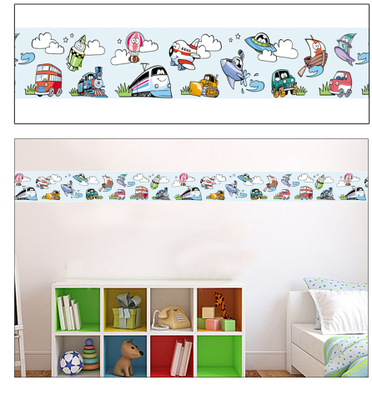 Cartoon dogs flowers fairy wall art decal sticker diy home for Decoration porte interieure poster sticker