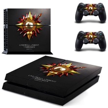 Game of Thrones Winter is Coming Stark PS4 Skin Sticker Decal Vinyl for Playstation 4 Console and 2 Controllers PS4 Skin Sticker