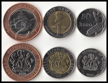 Нигерия, 3 комплекта, монеты 2006, оригинальная коллекция монет, подлинные монеты в Африканском мире, монеты, монеты в подарок
