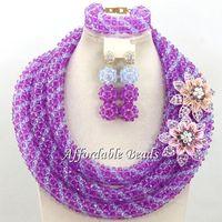 Best Sale Dubai Gold Jewelry Set Nice African Jewelry Set Handmade Design Wholesale Free Shipping BN571