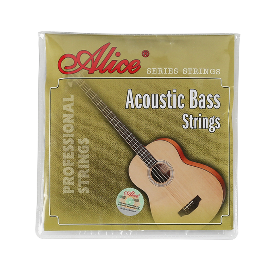 Alice A616-L A618-L Acoustic Bass Strings Full Set 4 Strings Steel Hexagonal Core Coated Copper Alloy Wound Silver Ball-End free shipping professional alice a609c colorful coated copper alloy wound electric bass strings a set 4 strings wholesales