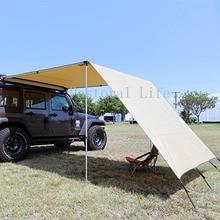 GRNTAMN багажник на крышу 4x4 тент с бесплатным передним удлинением 6,5 ', для автомобиля/внедорожника/грузовика-хаки