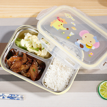 Portable Stainless Steel Picnic lunch box office School Food Container two grid three Kids adult Bento Box
