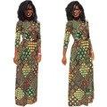 2017 Халат Africaine Африканские Платья Для Женщин Африканских Базен Riche Платья Горячие Продажа Полиэстер Новые Печати Сексуальная Женская Одежда