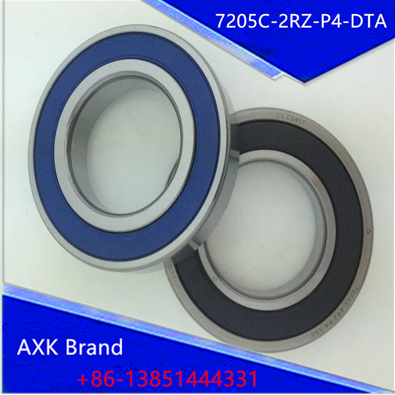 1 pair AXK 7205 7205C-2RZ-P4-DTA 25x52x15 Sealed Angular Contact Bearings Speed Spindle Bearings CNC ABEC 7 Engraving machine 1pcs 71901 71901cd p4 7901 12x24x6 mochu thin walled miniature angular contact bearings speed spindle bearings cnc abec 7