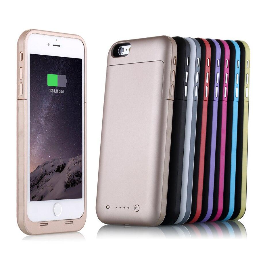 imágenes para Para caja de la batería inteligente iphone 6s plus 6800 mah ultra thin cubierta del cargador de reserva para apple iphone 6s 5.5 caso de energía inteligente banco