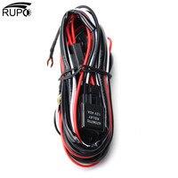 Rupo 2.5 м авто Off Road Вождение Противотуманные фары жгут проводов комплект светодиодный свет бар кабель с включения/выключения 40A DC12V