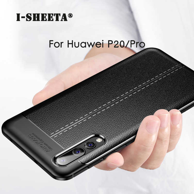 Hybrid For Huawei P20 P30 Pro 3D Litchi Rind Matte Leather Ultra Thin Silicone TPU Case For Huawei P20 P30 Lite Back Cover Cases