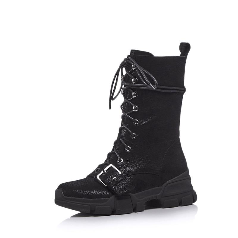 Chaussures Moto Femmes Gladiateur Automne Med Talons Qulaity Facndinll Haute black Hiver Black Noir Silver Nouveau Cheville D'équitation Bottes Zipper Femme LqSzGUpMV