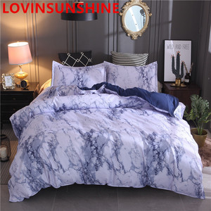 Image 3 - LOVINSUNSHIN Printed Marble Bedding Set White Black Duvet Cover King Queen Size Quilt Cover Brief  Comforter Cover aa33#