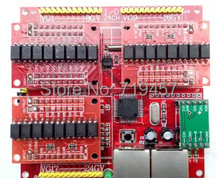 FREE SHIPPING 24 IO Module 24 Switch Quantity Signal Acquisition Module 485 Communication Data Acquisition