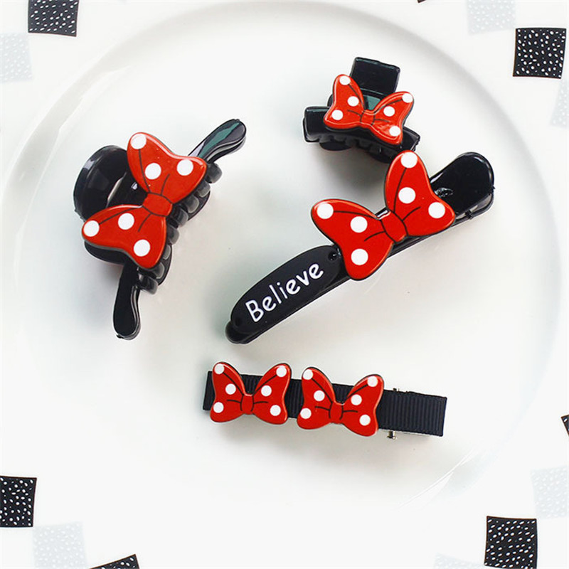 2017 New Girls Bow Hair Claw Barrettes Hair Accessories Hair Clips Beauty Headbands Fashion Kids Child Cute Hair Sticks Headwear 1 set new girls colorful carton hair clips small crabs hair claw clips mini hairpin kids hair ornaments claw clip