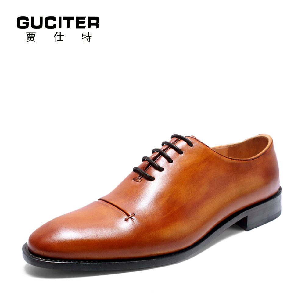 Goodyear welted custom men's shoes oxfords small head layer cowhide pointed business dress shoe free shipping  pointed toe полироль пластика goodyear атлантическая свежесть матовый аэрозоль 400 мл