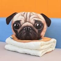 Поддержи кондиционер Одеяло 3D Мяу звезды люди сзади Подушка расслабиться Теплые собака Кот Стиль