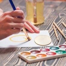 50 шт деревянные детские DIY Окрашенные деревянные фишки креативные бытовые декоративные доски Детские ручные принадлежности