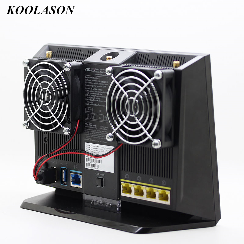 KOOLASON For ASUS RT-AC68U EX6200 AC15 Computer Wireless Router Cooling fan DC5V 70*70*15mm USB fans Cooler radiator Браслет