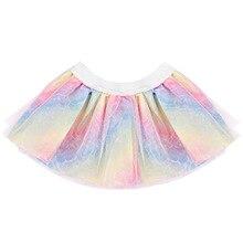 цена на Summer Multicolor Baby Girl Tutu Skirt Fashion Newborn Princess Girl Tulle Clothes Kid Lace Skirt for Ballet Dance Age 0-12M