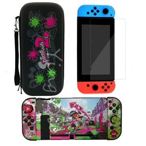 Image 4 - NEW for Nintend Switch NS NX Console Carrying Storage Bag + Shell Cover Case + Tempered Glass Screen Protector + 2 Grip Caps