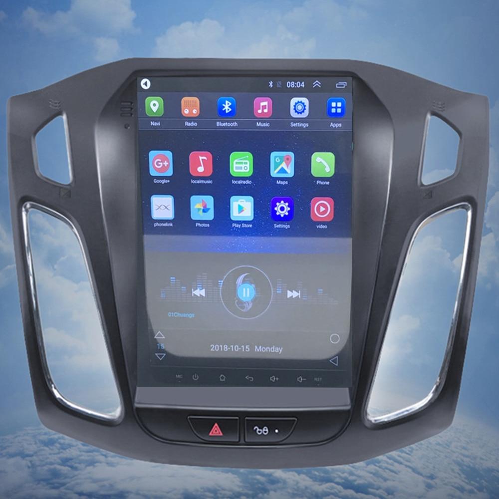 ZOYOSKII Android 8.1 10.4 pouces IPS écran vertical voiture gps multimédia radio bt lecteur de navigation pour ford focus salon 2012-2016