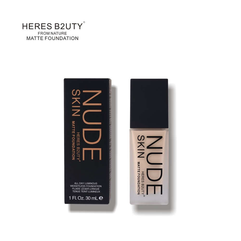 Markë HERES B2UTY Makeup Base Foundation Liquid Foundation Longlasting LongstayWaseproof Water Concealer Whitening Moisturizer White Cream 30ml