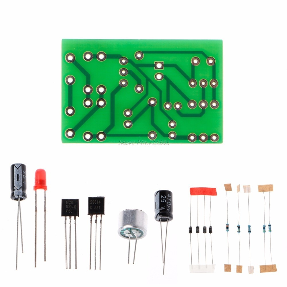 Online Shop Clap Switch Suite Electronic Production Diy Kits Led Photo Flash 220v Flasher Circuit Electronics Projects Circuits Bulb Lamp Sound Activated Auto Delay Kit Integrated