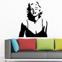 Marilyn Monroe red lips wall decor wall stickers Home Decoration Wall Decals decorative living room wall sticker wallpaper