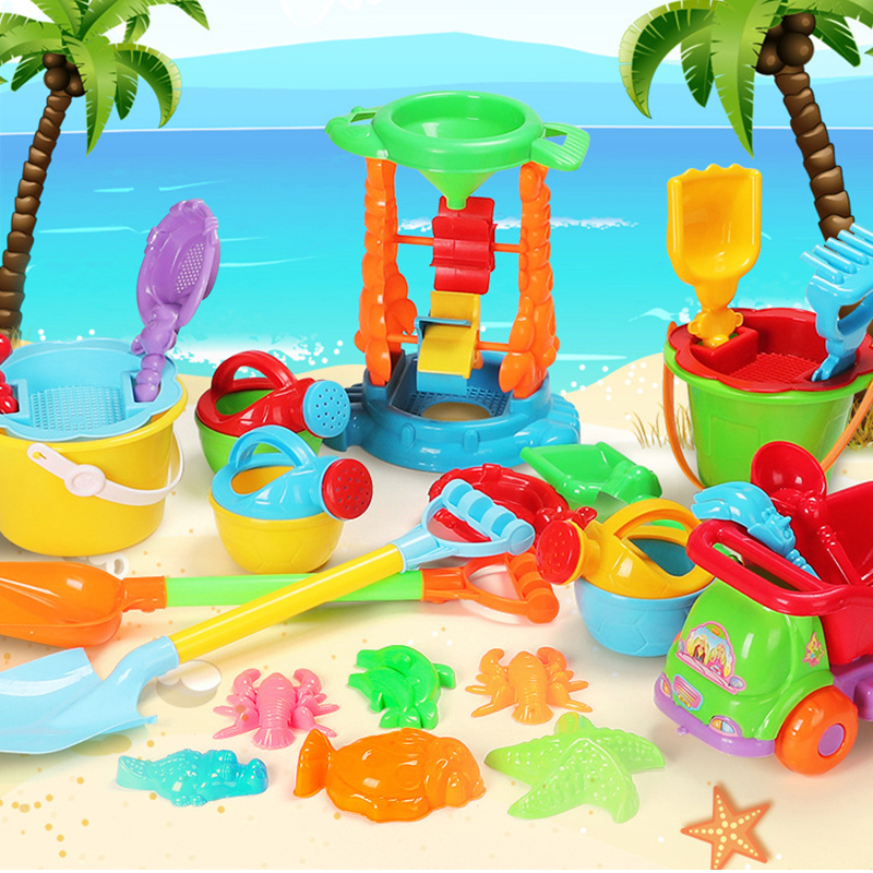 Beach Sand Play Toys Set Kids Seaside Bucket Shovel Rake Kit Play Toy Digging Sand Shovel Tool Gifts Random Color
