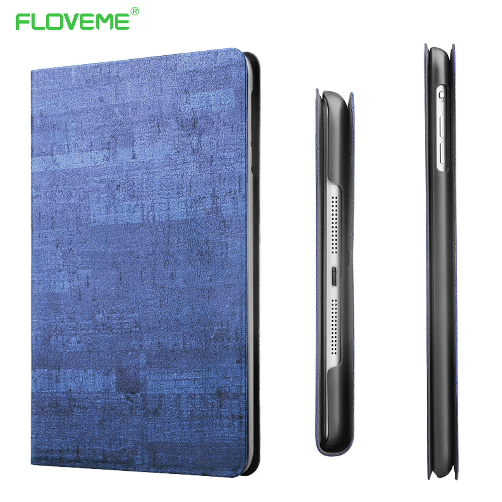 FLOVEME Leather Case For iPad Air 1 2 Slim Cover Casual Tablet Protector Fashion Smart Sleep Flip Cover For Apple iPad Air 1 2