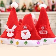 Мультфильм Дети Санта Клаус со снеговиками, с северными оленями Рождество Детские шапки подарок вечерние кепки Рождество поставки орнамент