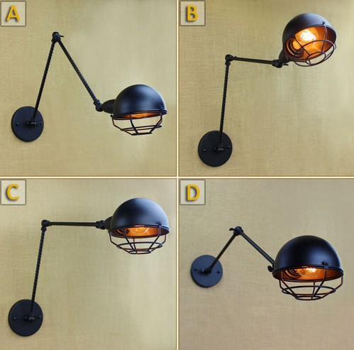 Nordic Loft Vintage Edison Wall Sconce Fold Mirror Wall Light Fixtures Industrial Wall Lamp For Home Lighting Lamparas Pared 60w style loft industrial vintage wall lamp fixtures home lighting edison wall sconce arandela lamparas de pared